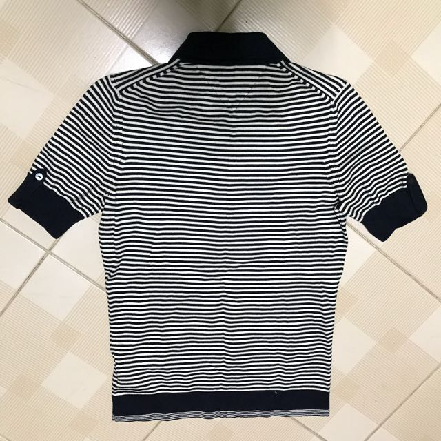 05ce6132 TOMMY HILFIGER Women's Navy Blue Striped Polo T-shirt (Size S), Women's  Fashion, Clothes, Tops on Carousell