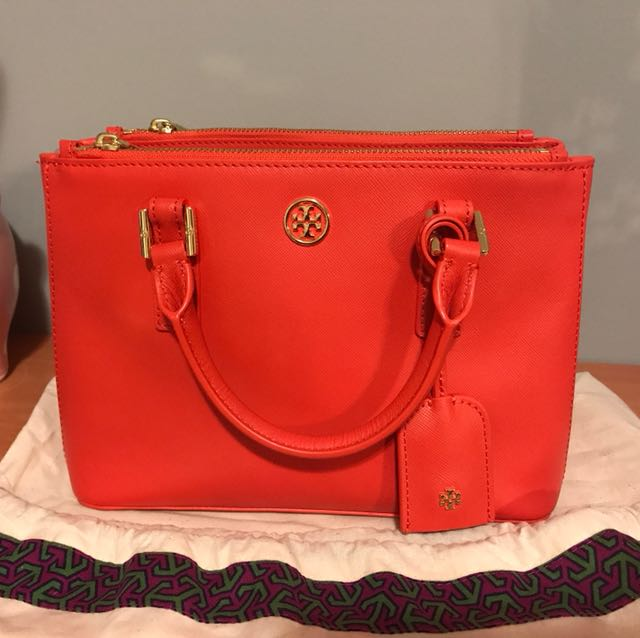 Tory Burch brand new Robinson small double zip tote