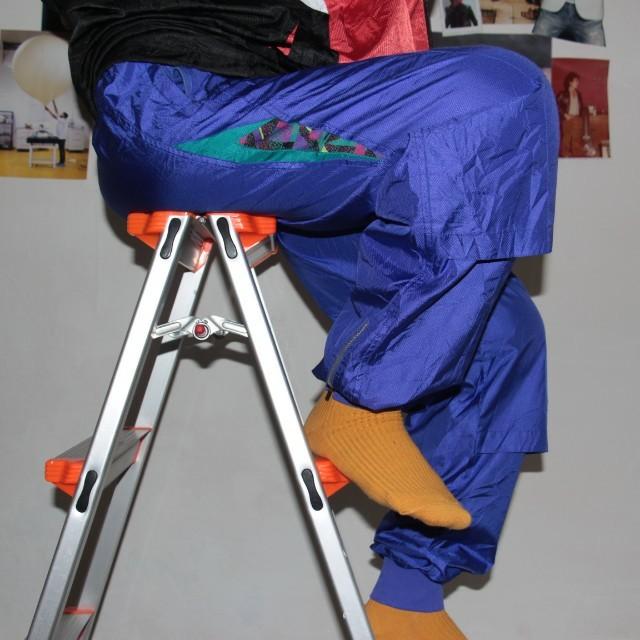 [UNISEX] Parachute Blue-Abstract 'Super Star' Track Pants / Celana Olahraga