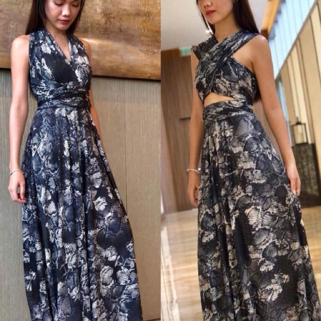 up to 27ways to wear long dress