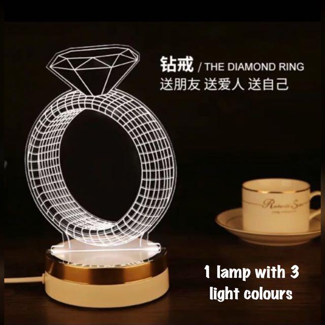 Valentine- Diamond Lamp