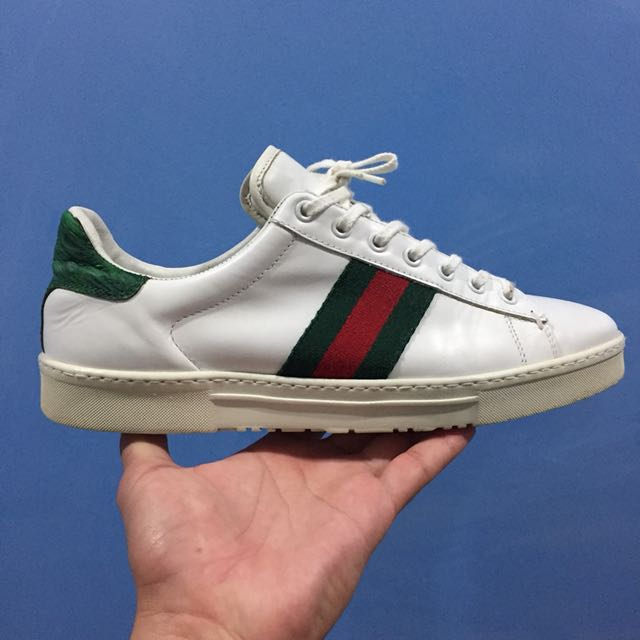 896ede74519 Vintage Gucci Ace Leather Sneakers