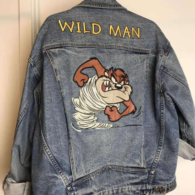 Vintage Looney Toons Oversized Denim Jacket
