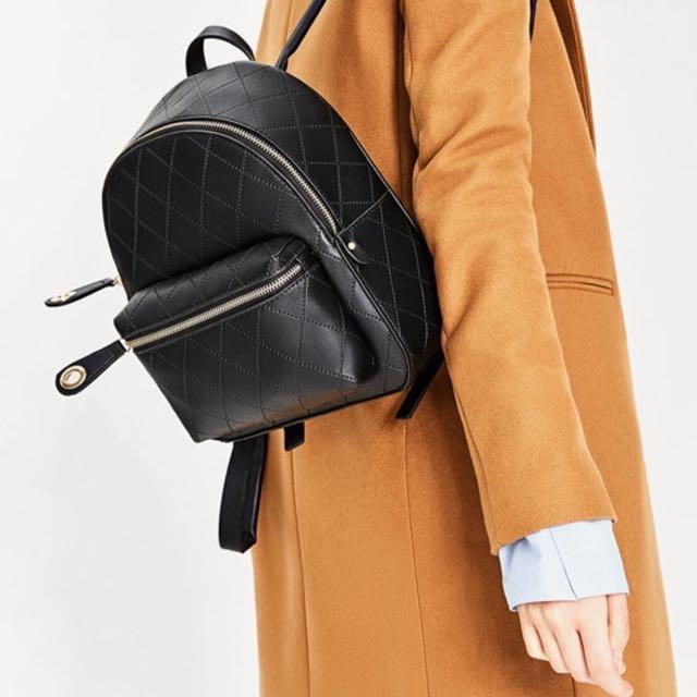 Zara embossed pocket backpack