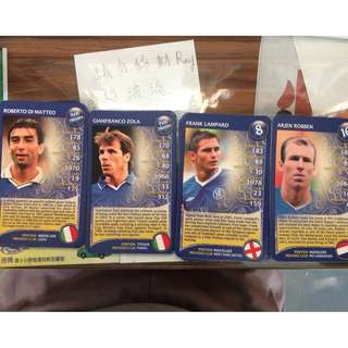 Players Cards of Legends at Chelsea FC