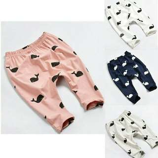 Kids Pants with Whale Printing