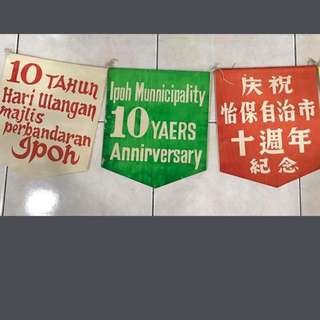 Vintage Ipoh Municipality 10Years Anniversary Flagline