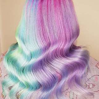 Lunar tides Hair 暫時 焗油 染髮 半永久 unicornFrost Limited Edition 薰衣草紫 薄荷綠 漂頭 新年