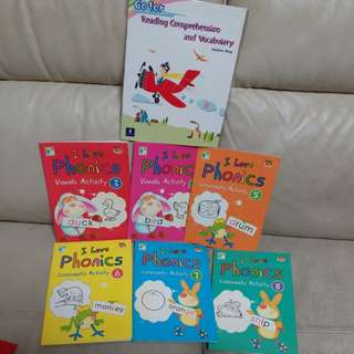 Phonics 6本 (送reading comprehension and Vocabulary)