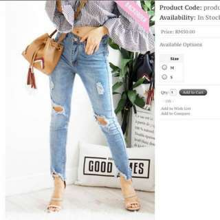 Bash Clothing Ripped Jeans