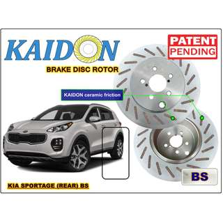 "KIA Sportage brake disc rotor KAIDON (REAR) type ""RS"" / ""BS"" spec"