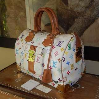LOUIS VUITTON mono multicolor speedy 30 bag