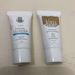 Bless facial cleanser & healthy glow foundation
