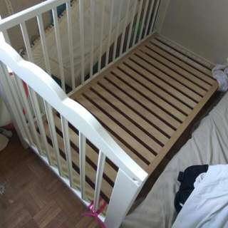IKEA Hensvik Cot With Bite Guards