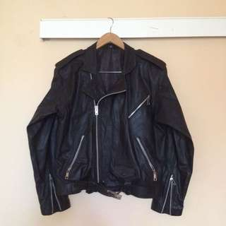 Leather Jaket Ramones (Kulit Domba)