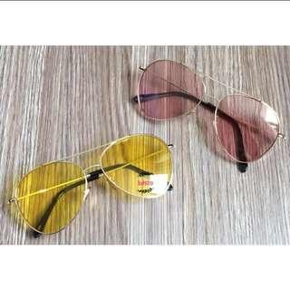 中國有嘻哈🐻🖤原宿 潮流 雅痞 復古果凍透明 哈妮 漢娜妞GD TOP飛行 雷朋太陽眼鏡 透明彩色墨鏡男女適用