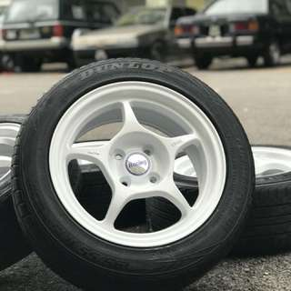 New rim + 2nd tyre 15 inch sports rim vios tyre 70%
