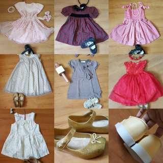 Dress and shoes 2-3y
