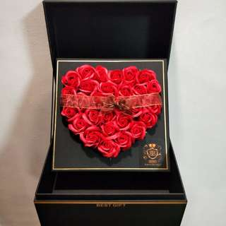 [In-Stock] Red Fragrance Roses / Soap Roses (32Roses)