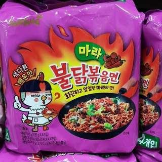 🚚 韓國 2018最新紫色辣乾麵  4入一袋 現貨