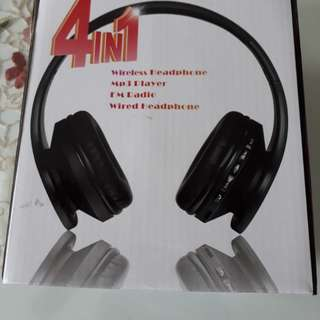 Headset with FM radio