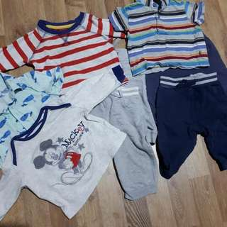 Baby Shirts and Jogger Pants for 3-6months old baby boy