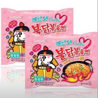 🚚 韓國三養 奶油辣乾麵 5入
