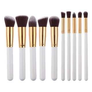 10 piece Kabuki brush set