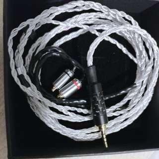 8絞7N單晶銅鍍銀耳機線 2.5 mm Astell &kern onkyo 平行頭 mmcx shure fender westone mmcx