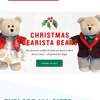 2017 starbucks christmas bear set