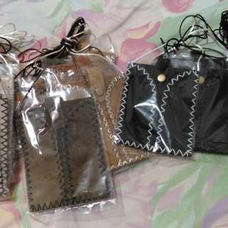 Authentic leather pouches