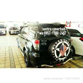 Jual sarung / cover ban serep Mobil Rush Terios Jeep Hardtop Taruna CRV Ford dll