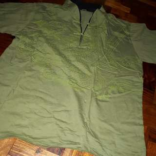 Chinese chong sam polo new jus washed