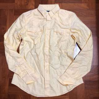 Polo Ralph Lauren Oxford Ladies Shirt In Yellow Size S