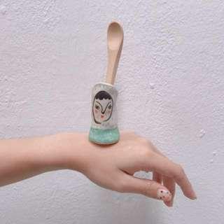Handmade mini vase/holder (face)