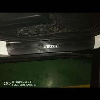 Honda Vezel car ledge sticker carbon fibre