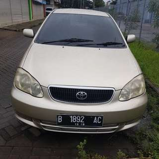 Toyota altis G 2001 manual