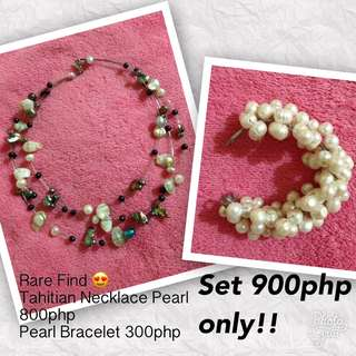 Sale! Tahitian Pearl necklace and pearl bracelet