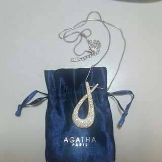 99%New AGATHA PARIS 925 Swarovski Necklace