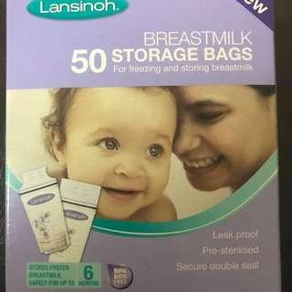 Brand new lansinoh breast milk storage bags (50 pcs)