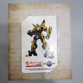 USS Transformer Yellow Ezlink Card