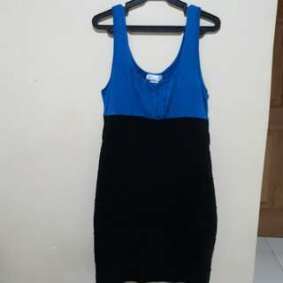 Black and blue January dress