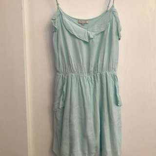 XS Light Blue Aritzia Talula Dress