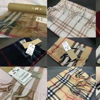 Burberry 羊絨圍巾特價羊絨頸巾