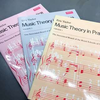 ABRSM music Theory in Practice grade 123 樂理