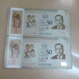 2-Pc Run SG50 Notes
