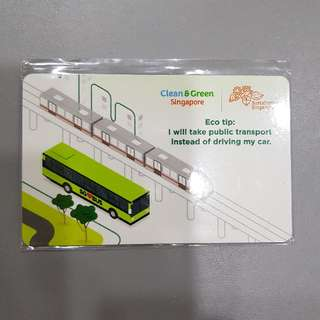 Clean & Green Singapore Buses Ezlink Card