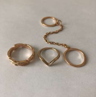Gold Ring Set (pick up only)