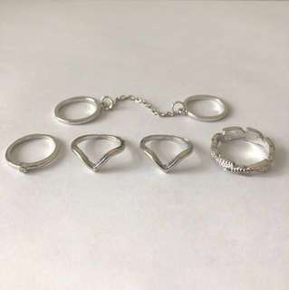 Silver Ring Set (pick-up only)