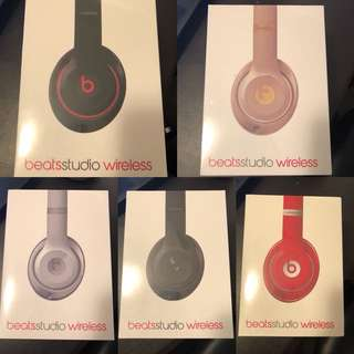 New Beats Studio Wireless Headphones